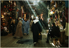 le souk ! (...cathzilla) Tags: light people colour morocco maroc marrakech souk marrakesh lpmarkets