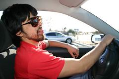 Craig Drives the RufusMobile (trashbagentrepreneur) Tags: moped creatures loin sausagefest1