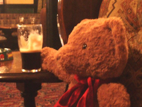 Mr. Bear goes to the pub.