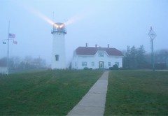 Chatham Lighthouse in Fog 4:20pm (Chris Seufert) Tags: light lighthouse fog ma capecod films chatham mooncusser