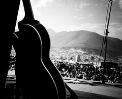 Guitar N Crowd (the_amazing_stache) Tags: blackandwhite bw music mexico guitar crowd band tijuana superstar mountians johnnelson theamazingstache