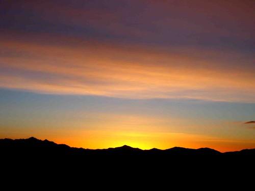 Sunrise on the Glory bootpack