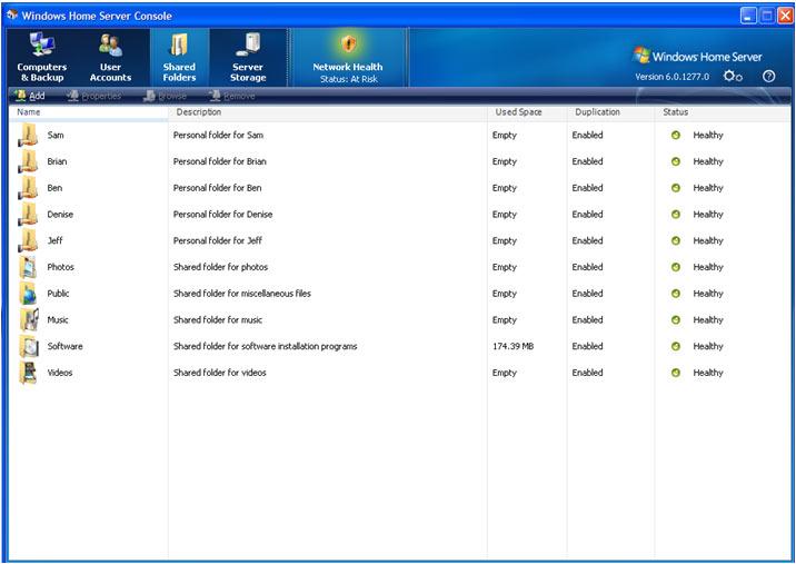 4 - shared folders