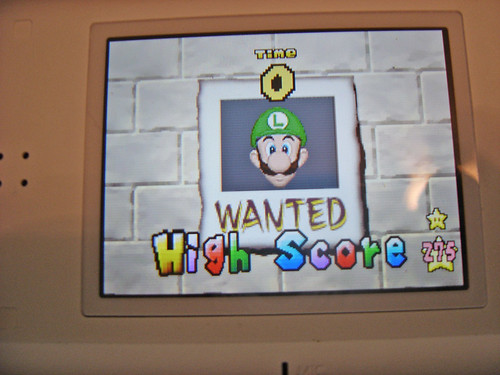 New Super Mario Bros. Wanted Mini-Game High Score (top)