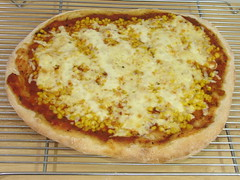 salsa corn pepper jack pizza