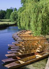 Cambridge (scuba_dooba) Tags: city uk cambridge water river boats boat pond cam scenes punting cambridgeshire millpond punts