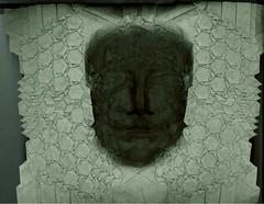 Joel's mask scanned in reverse (EricGjerde) Tags: sculpture origami mask joel cooper tessellation keepingtrackofthings
