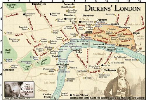 Interactive Map of Dickens London Neatorama