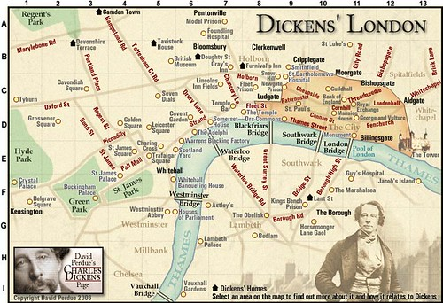 Interactive Map Of London.Interactive Map Of Dickens London Neatorama