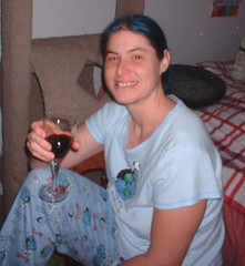 me drinking wine