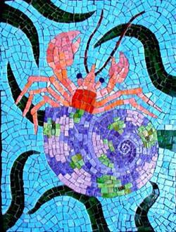Hermit crab mosaic