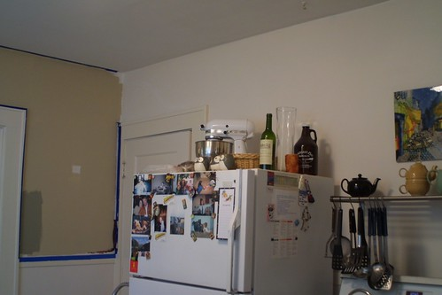 The kitchen-getting painted!
