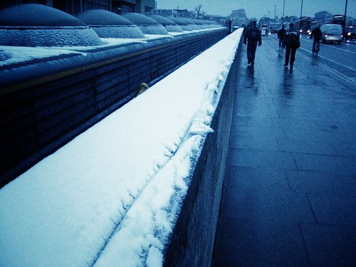 Waterloo Bridge in the Snow