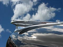 Lady of the Skies (kenmojr) Tags: auto sky 1948 lady classiccar antique hoodornament desoto krm kenmojr