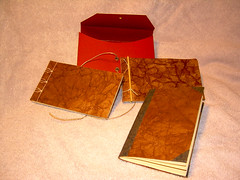 Faux Leather Miniature Books (Terry.Tyson) Tags: bookbinding t2 bookarts miniaturebooks artsdemercruise