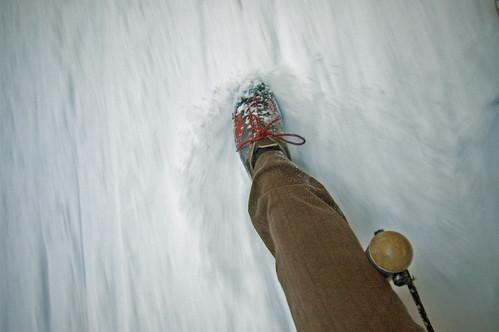 snow foot brake sleigh sledge