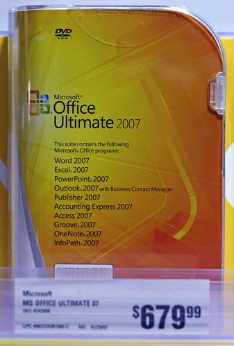Caja de Microsoft Office 2007