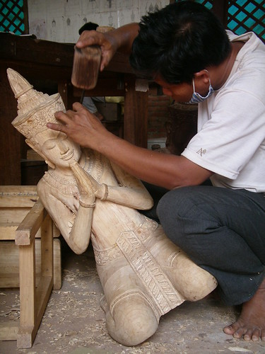 Handcarved statue