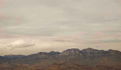 Cloudy Desert Mountains