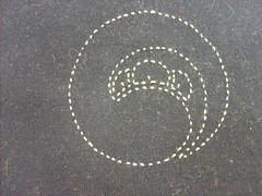Sashiko (patchworkgandalf) Tags: quilt embroidery indigo kamon sashiko