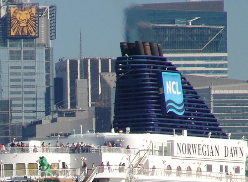 Norwegian Dawn Departing NY #1