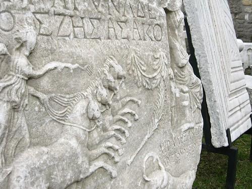 Greek artifacts at the Amasra Museum, Amasra, Black Sea coast of Turkey