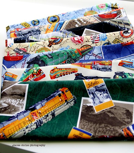 train-ish fat quarters