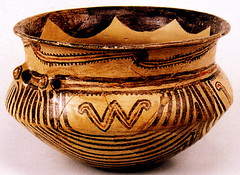 Neolithic Vase, Cucuteni (Iasi County) Romania (londonconstant) Tags: urban geometric archaeology design decoration pot clay romania vase archeology iasi artefact neolithic fired moldavia virtualmuseum cucuteni