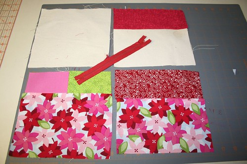 viola -- your lining pieces (top) and your exterior pieces (bottom) are ready to be zipped