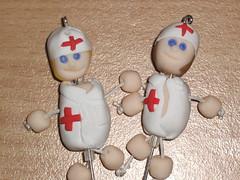 Ref.152 Enfermeiras em fimo