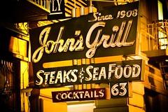 John's Grill (Thomas Hawk) Tags: sanfrancisco california city usa restaurant neon unitedstates 10 unitedstatesofamerica 63 since grill seafood cocktails johns steaks 1908 fav10 johnsgrill