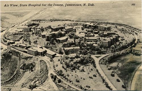 Postcard:  Air View State Hospital for the Insane, Jamestown, N.Dak.