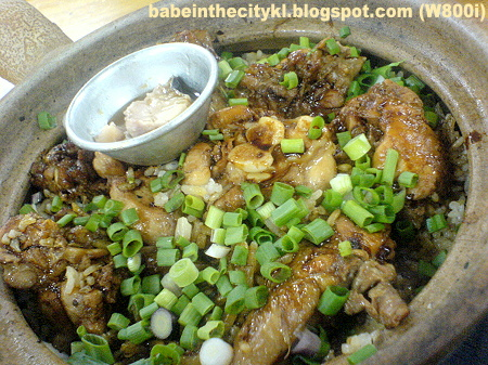 HK - claypot chic rice with salted fish