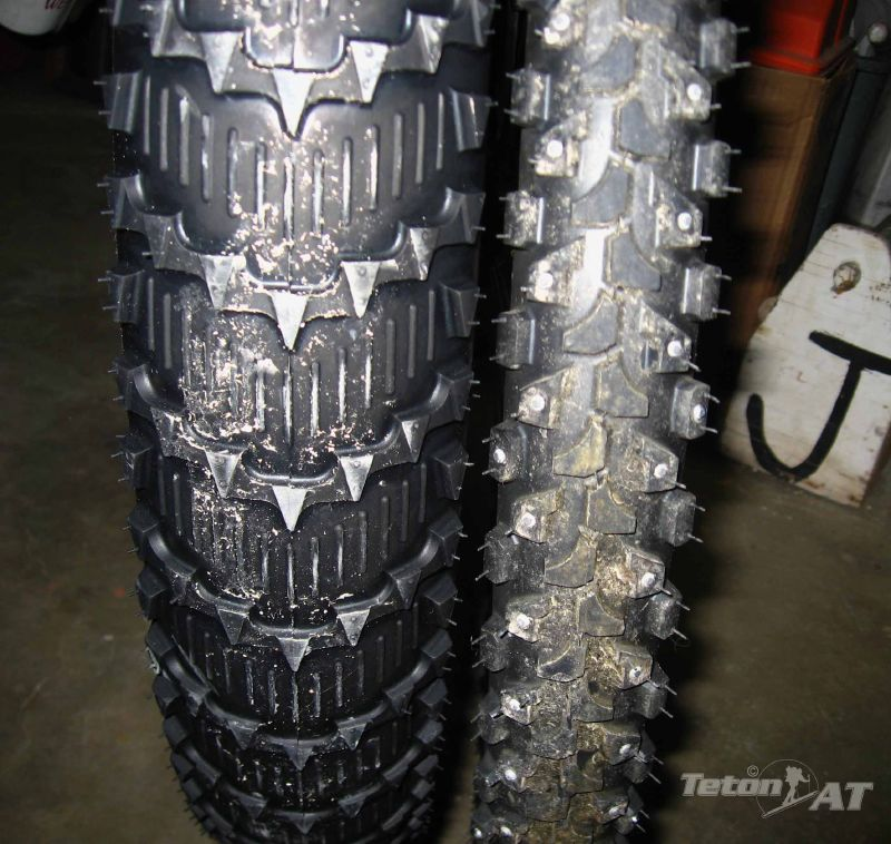 Snow tire and regular tire