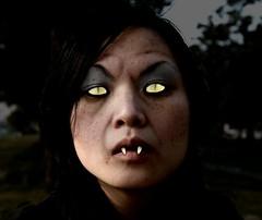 scary cat-eye vampire