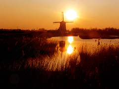 Twiske sunset (Bn) Tags: trip sunset vacation holiday holland netherlands windmill zonsondergang windmolen landsmeer twiske