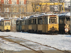 Old Trams at Legnicka Street Yard (szogun000) Tags: old winter snow abandoned yard decay trolley tram poland polska polish streetcar trams tramway decayed wroclaw tramwaj wrocaw dolnylsk lowersilesia dolnolskie legnicka konstaln