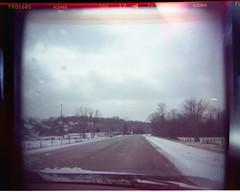 Cold (levecksl) Tags: road snow cold holga alone windingroad
