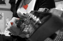 (sweetnsourtang) Tags: red heart guitar shelbi redfingernails selectivecolorisation 5hits