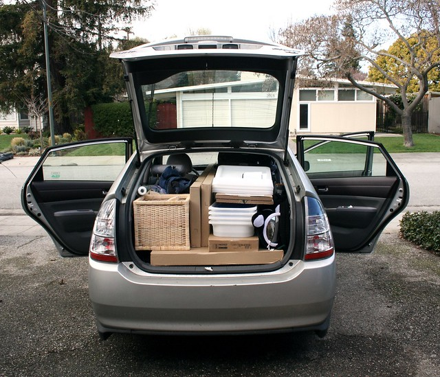 Packing a Prius with Ikea Stuff