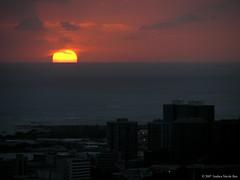 Setting Over Paradise (AndreaNicole) Tags: ocean sunset sun island hawaii evening oahu horizon tropical sinking