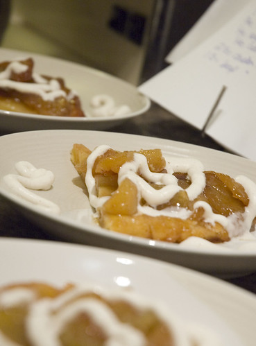 tarte tatin with spiced whipped cream