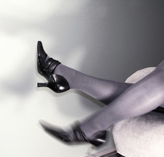 these shoes are made for... (Locator) Tags: woman selfportrait motion stockings legs sparkle heels glam day113 locator 365days