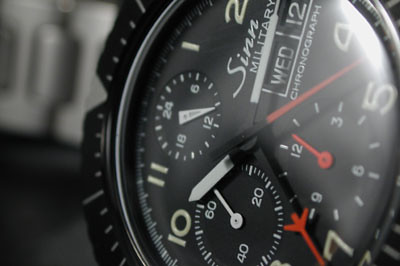 Close up of dial. Sinn 156