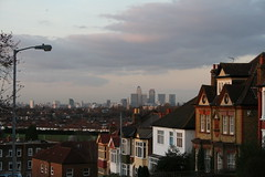 Canary Wharf from Brockley View
