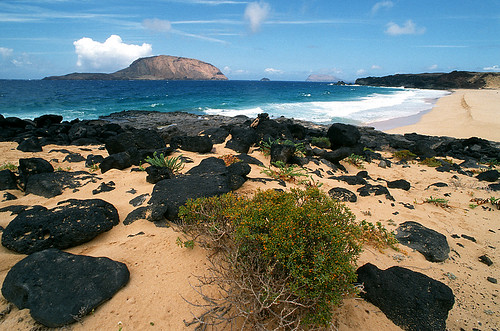 Beach on  La Graciosa island - Copyright by Martin Liebermann