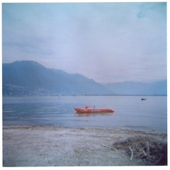 (chelseagirl) Tags: summer lake holiday mountains water switzerland boat haze paradise locarno inland lagomaggiore