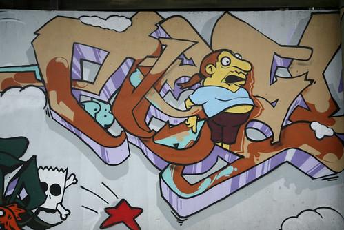 The Simpsons Graffiti Mural