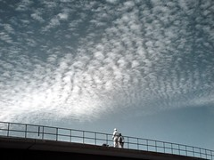 lots to do (zachstern) Tags: wallpaper sky clouds workers metro platform railing r72 abigfave