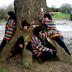 365 Days - Day 71 - Hippy Tree Huggers (Auntie P) Tags: selfportrait tree march spring rainbow tripod ofme multiplicity clones isleofwight medina multiple auntiep friday squarecrop treehugger day71 treehuggers 2007 iow week11 52weeks 365days 1500v60f cy2 challengeyouwinner abigfave rainbowjumper hippytreehugger ilovethisconcept msh020815 msh0208 msh0409 msh040913 hippietreehugger dwcffselfies hippytreehuggers hippietreehuggers